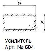 604 (1,4) АРМ. ПРОФИЛЬ А20,0Х38Х1,5ММ 6М