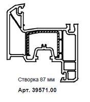 39571RL СТВОРКА KNIPPING-70 МАХАГОН/БЕЛЫЙ (LG) (АТ)