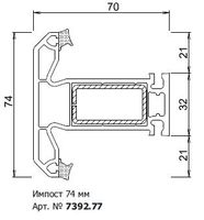 GU  7392.77  ИМПОСТ 78/36мм GUTWERK 70 (676 М.П.)