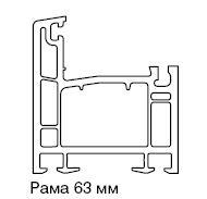 90701.00 (ЛП) РАМА 63ММ, БЕЛАЯ Knipping 58